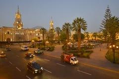 Plaza de Armas, Arequipa, Pérou Photographie stock