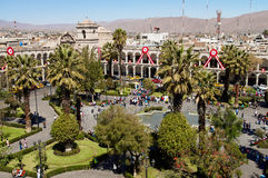 Plaza de Armas a Arequipa, Perù, Sudamerica Fotografia Stock
