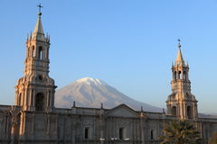 Plaza de Armas in Arequipa Stock Photo