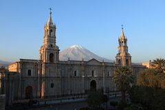 Plaza de Armas in Arequipa Stock Photos