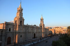 Plaza de Armas in Arequipa Royalty Free Stock Images