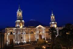 Plaza de Armas in Arequipa Royalty Free Stock Photography