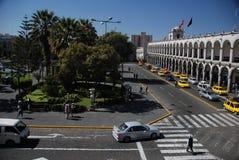 Plaza de Armas - Arequipa,Peru stock photography