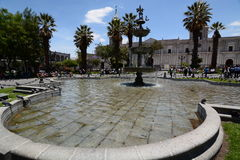 Plaza de Armas. Arequipa. Peru. Arequipa is the capital and largest city of the Arequipa Region and the second most populous city in Peru royalty free stock photo