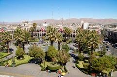 Plaza DE Armas in Arequipa, Peru, Zuid-Amerika Royalty-vrije Stock Afbeelding