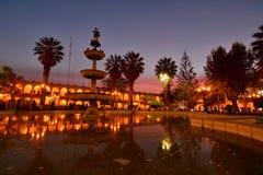Plaza de Armas au crépuscule arequipa peru Image libre de droits