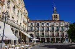 Plaza DE Armas centraal vierkant in oude stad van middeleeuwse histori stock foto