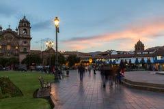 Plaza de Armas, Cusco Περού Στοκ φωτογραφία με δικαίωμα ελεύθερης χρήσης