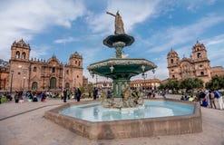 Plaza de Armas, Cusco, Περού Στοκ εικόνες με δικαίωμα ελεύθερης χρήσης