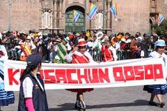 Plaza de Armas in Cusco city in Peru Royalty Free Stock Photo