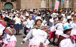 Plaza de Armas in Cusco city in Peru Royalty Free Stock Photos