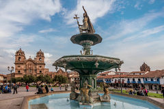 Plaza de Armas, Cusco, Pérou Photo stock