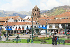 Plaza DE Armas in Cusco, Peru stock fotografie