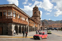 Plaza DE Armas in Cusco, Peru Stock Afbeeldingen