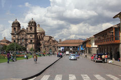 Plaza de Armas in Cusco, Peru Royalty Free Stock Photography