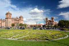 Plaza de Armas. Cusco. Peru. Cusco, or Cuzco, is a city in southeastern Peru, near the Urubamba Valley of the Andes mountain range Royalty Free Stock Images