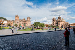 Plaza de Armas, Cusco, Peru. Place de Armas is the principal square of Cusco, in this place is located the Cathedral of the city Royalty Free Stock Photography