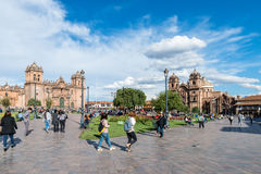 Plaza de Armas, Cusco, Peru. Place de Armas is the principal square of Cusco, in this place is located the Cathedral of the city Royalty Free Stock Photos
