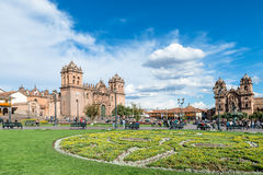 Plaza de Armas, Cusco, Peru. Place de Armas is the principal square of Cusco, in this place is located the Cathedral of the city Stock Photo