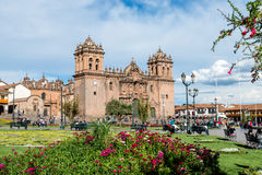 Plaza de Armas, Cusco, Peru. Place de Armas is the principal square of Cusco, in this place is located the Cathedral of the city Royalty Free Stock Photo