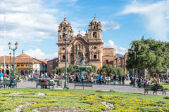 Plaza de Armas, Cusco, Peru. Place de Armas is the principal square of Cusco, in this place is located the Cathedral of the city Stock Images