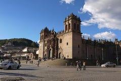 Plaza de Armas, Cusco, Urubamba landskap, Peru/31st Augusti 2013/ arkivfoton