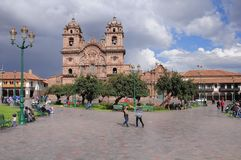 Plaza de Armas, Cuzco, Περού Στοκ Εικόνα