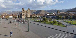 Plaza de Armas, Cuzco, Περού Στοκ φωτογραφία με δικαίωμα ελεύθερης χρήσης