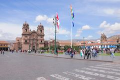 Plaza de Armas, Cuzco, Peru Arkivbilder