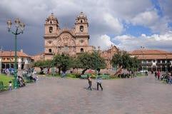 Plaza de Armas, Cuzco, Peru Fotografering för Bildbyråer