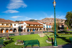 Plaza de Armas in Cuzco Royalty Free Stock Photos