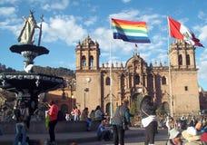 Plaza de Armas da cidade de Cuzco, Peru fotos de stock royalty free