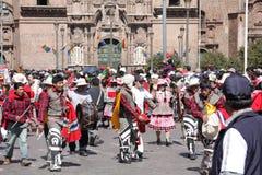 Plaza de Armas in der Cusco Stadt in Peru Stockbild