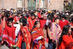Plaza de Armas in der Cusco Stadt in Peru Stockbilder