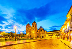 Plaza de Armas early in morning,Cusco, Peru Royalty Free Stock Photography