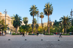 Plaza de Armas em Santiago de Chile Fotos de Stock Royalty Free