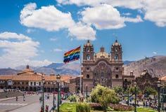 Plaza de Armas en el centro histórico de Cusco, Perú Foto de archivo libre de regalías