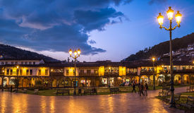 Plaza de Armas in historic center of Cusco, Peru Royalty Free Stock Image
