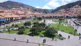 Plaza de Armas i Cusco, Peru arkivfoton