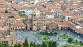 Plaza de Armas i Cusco, Peru Arkivfoto