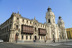 Plaza de Armas in Lima, Peru Royalty Free Stock Photos
