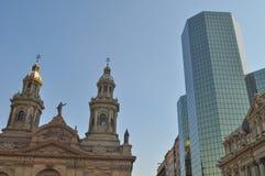 Plaza de Armas Main Square, Santiago de Chile. Metropolitan Cathedral, Plaza  Armas Main Square,   Chile Royalty Free Stock Images