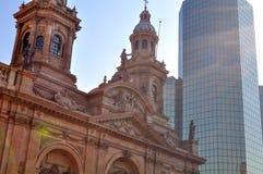 Plaza de Armas Main Square, Santiago de Chile. Metropolitan Cathedral, Plaza  Armas Main Square,   Chile Stock Photo