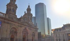 Plaza de Armas Main Square, Santiago de Chile. Metropolitan Cathedral, Plaza  Armas Main Square,   Chile Stock Photography