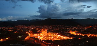 Plaza de Armas Mission, Cusco, Peru Royalty Free Stock Image
