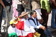 Plaza de Armas na cidade de Cusco em Peru Foto de Stock Royalty Free
