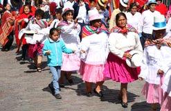 Plaza de Armas na cidade de Cusco em Peru Imagens de Stock