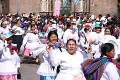 Plaza de Armas nella città di Cusco nel Perù fotografia stock libera da diritti