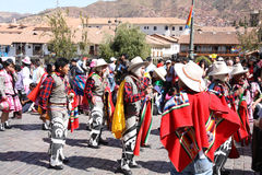 Plaza de Armas nella città di Cusco nel Perù immagine stock