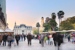 Plaza de Armas no Santiago Imagens de Stock